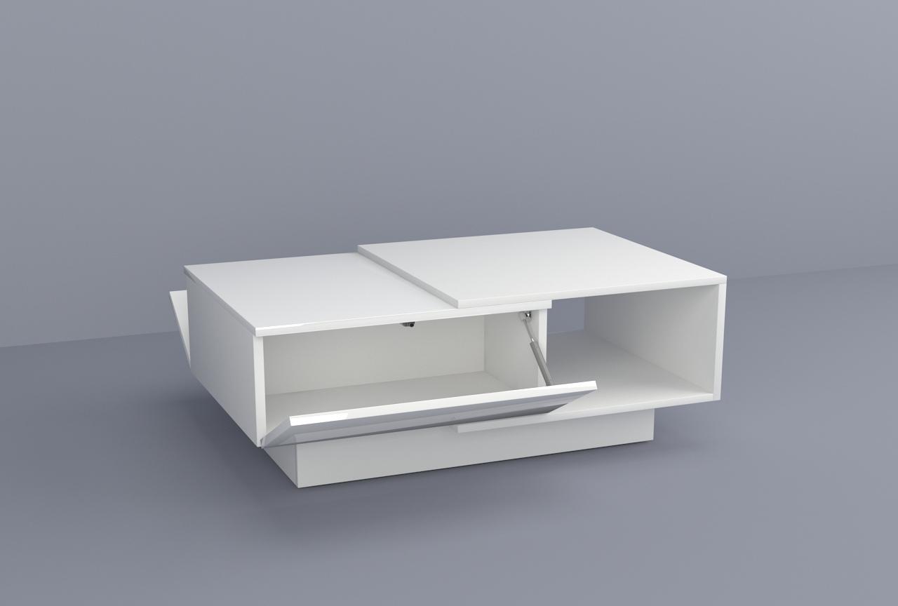 biały mat, biały połysk, biały stolik kawowy, biały stolik do salonu, ława