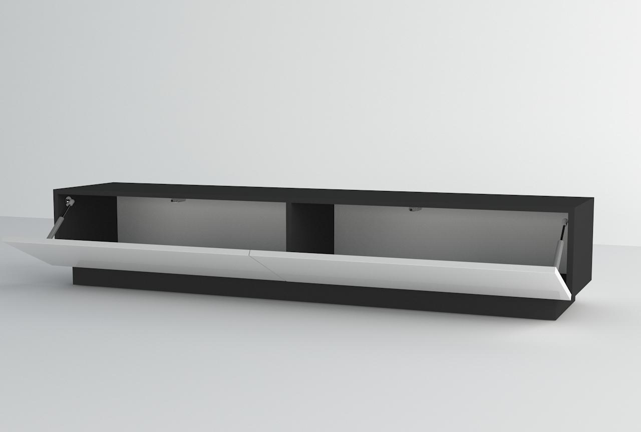 szafka rtv wisząca, stojąca szafka pod tv, biało czarna szafka