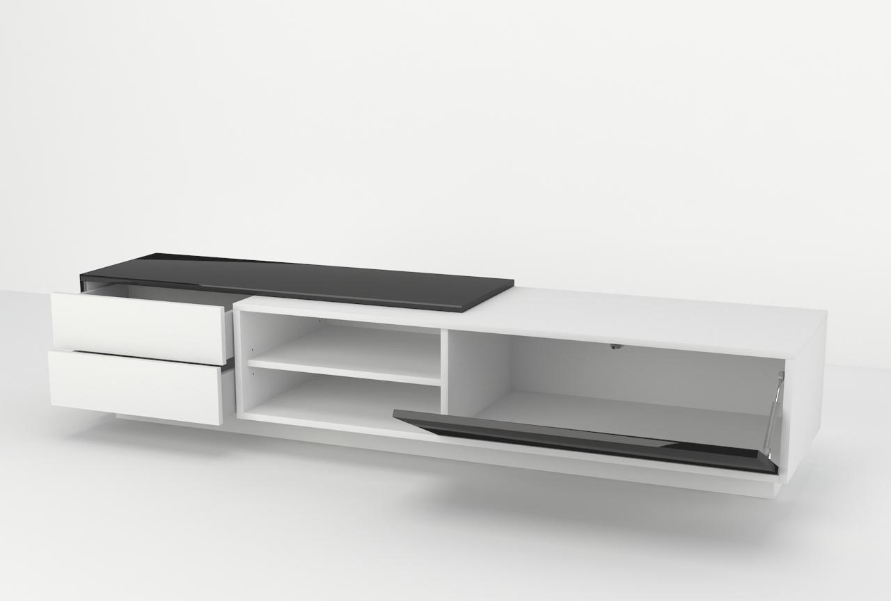 Szafka rtv, nowoczesna, szuflady, półka na sprzęt rtv.