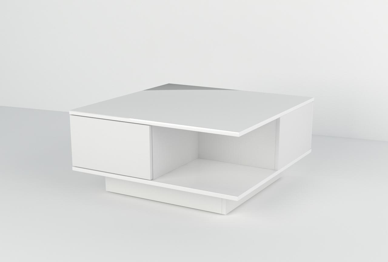 Stolik Galicja Biały / Biały wysoki połysk