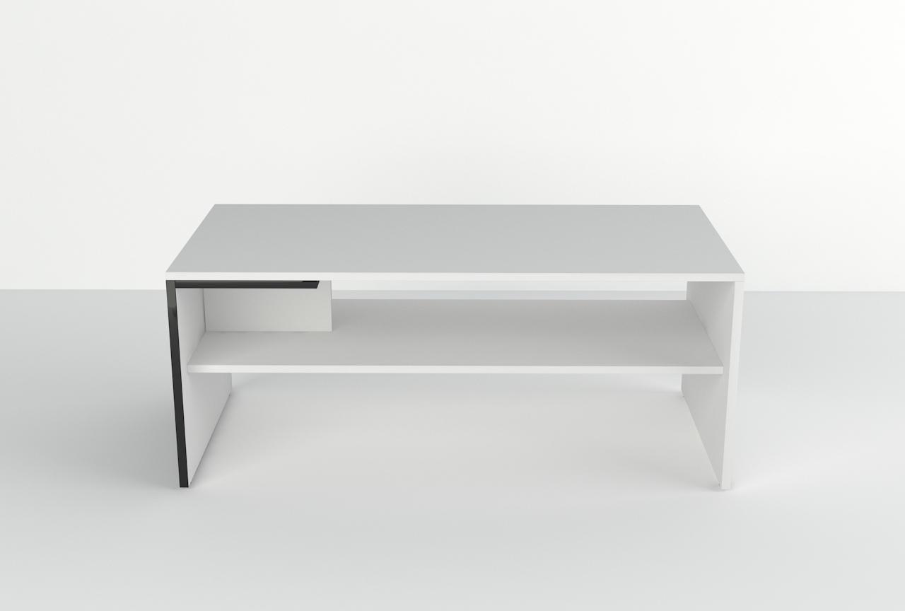 stolik, ława Verdis, czarnobiała