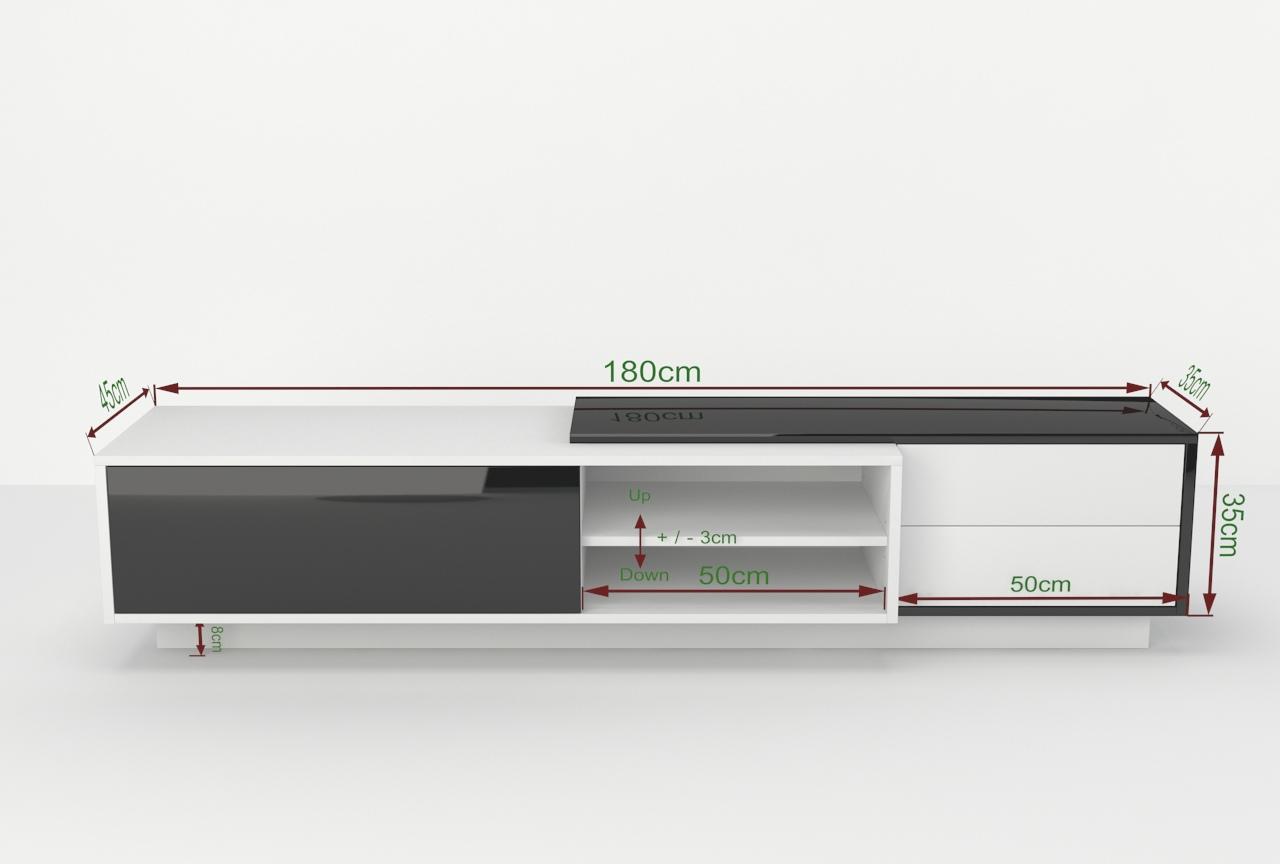 Szafka rtv diadema 180cm r nowoczesny design szafki rtv for Badezimmermobel 180 cm