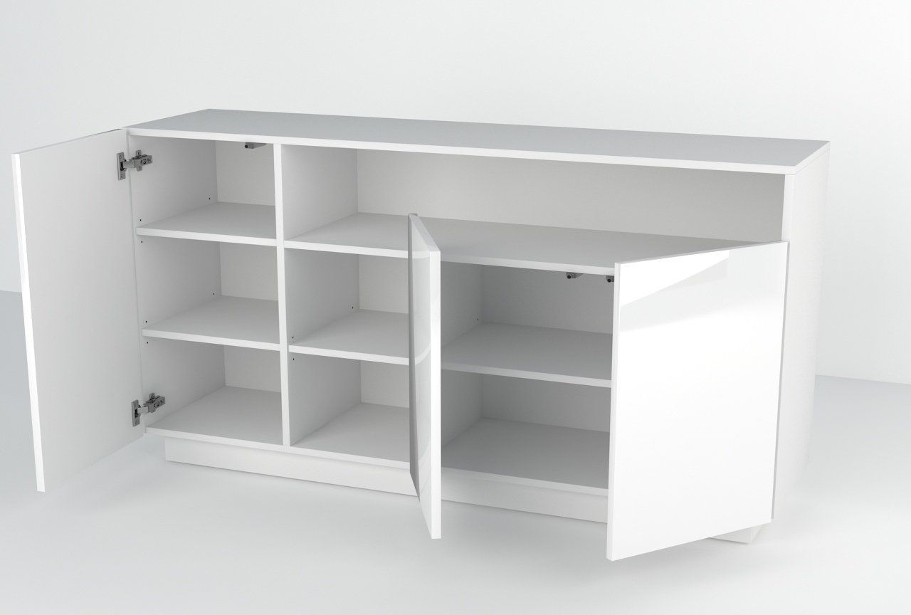 kommode schrank mit hochglanz sideboard h ngenden commode blanc wei farben ebay. Black Bedroom Furniture Sets. Home Design Ideas