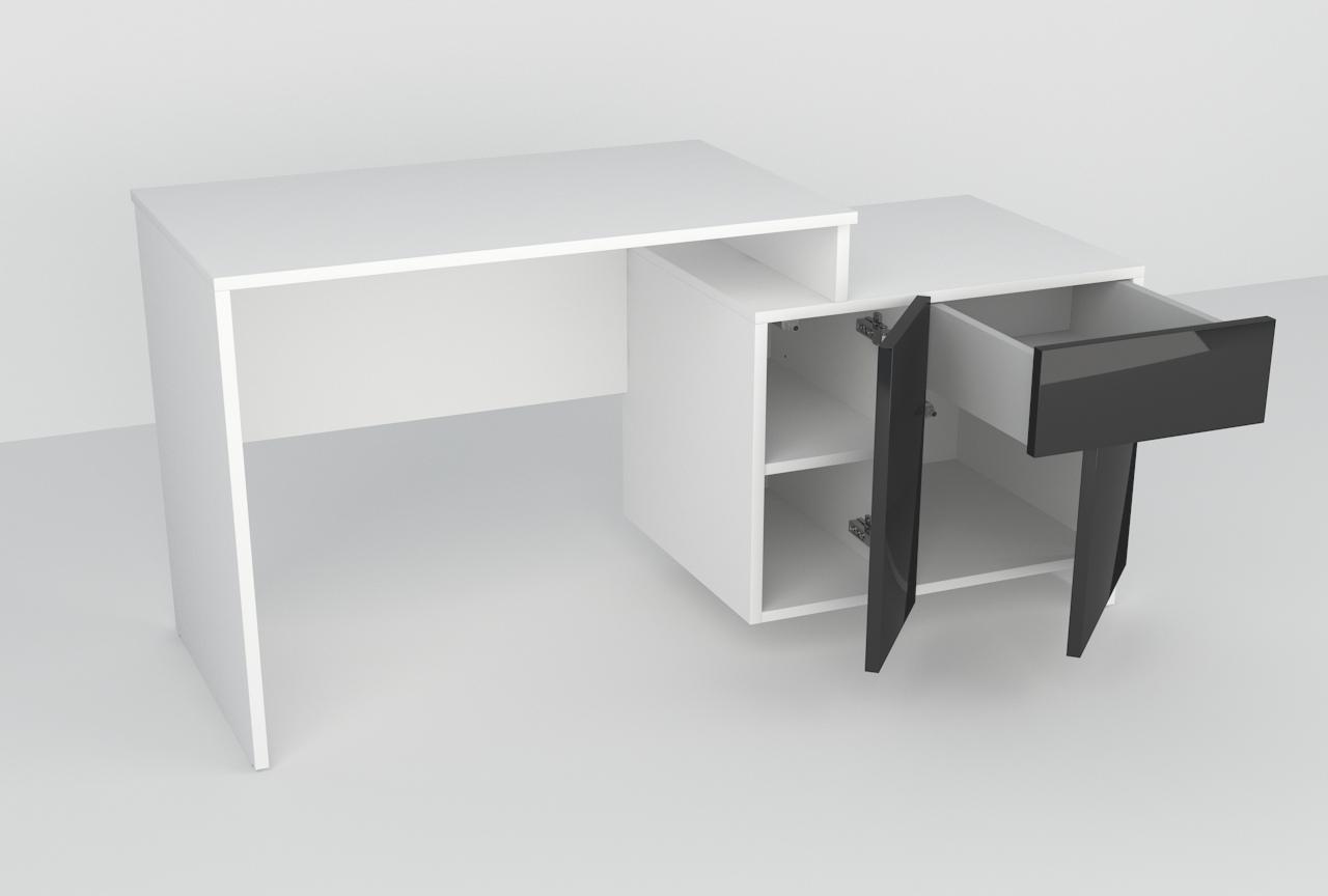 akryl, biurko, młodzieżowe, szafka pod drukarkę,nowoczesny design