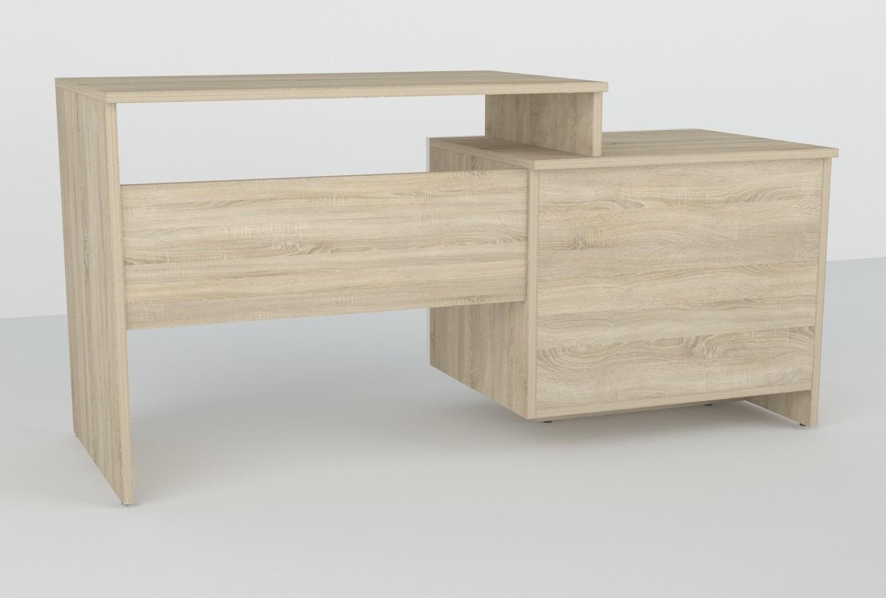Biurko OLux 130cm 2D + 1S R