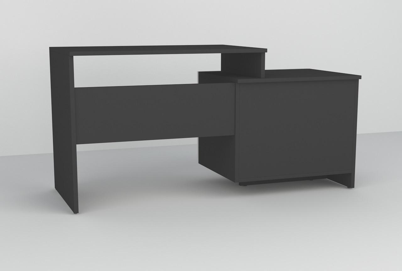 biały połysk, czarny mat, biurko młodzieżowe, biurko do biura, biurko z szufladą