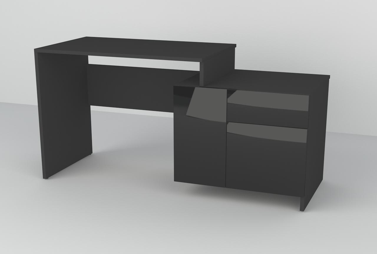 Biurko OLux 130cm 2D + 1S L