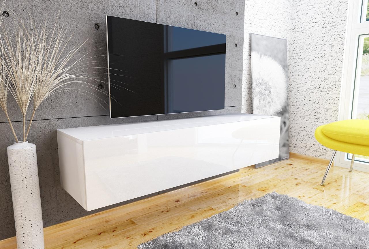 Szafka rtv Galicja3 1D, PREMIUM, Biały wysoki połysk,  design.