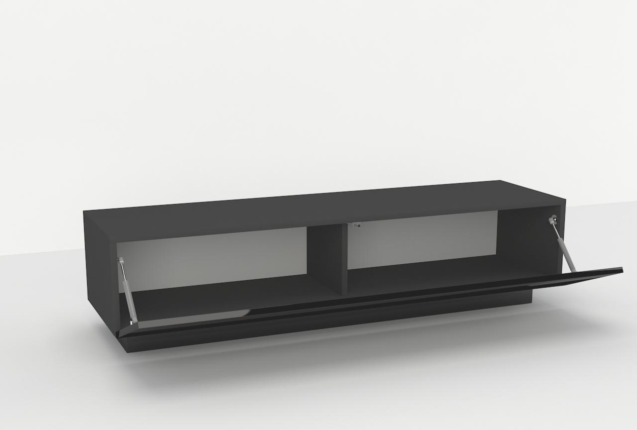 szafka pod telewizor, szafka rtv, czarny wysoki połysk