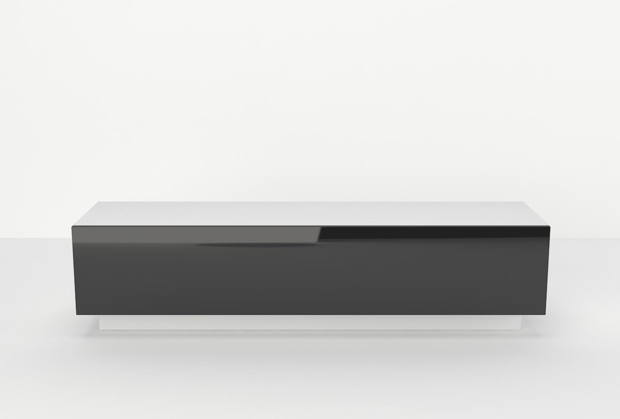 Szafka rtv Galicja3 1D, Czarny wysoki połysk, biały mat.