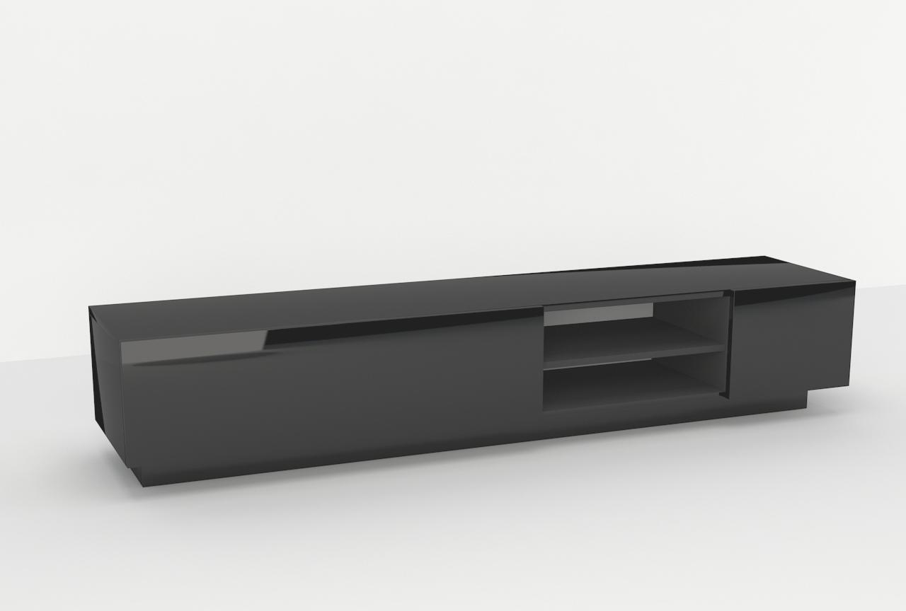 mebel nowoczesny Galicja 2, czarny połysk, pod telewizor