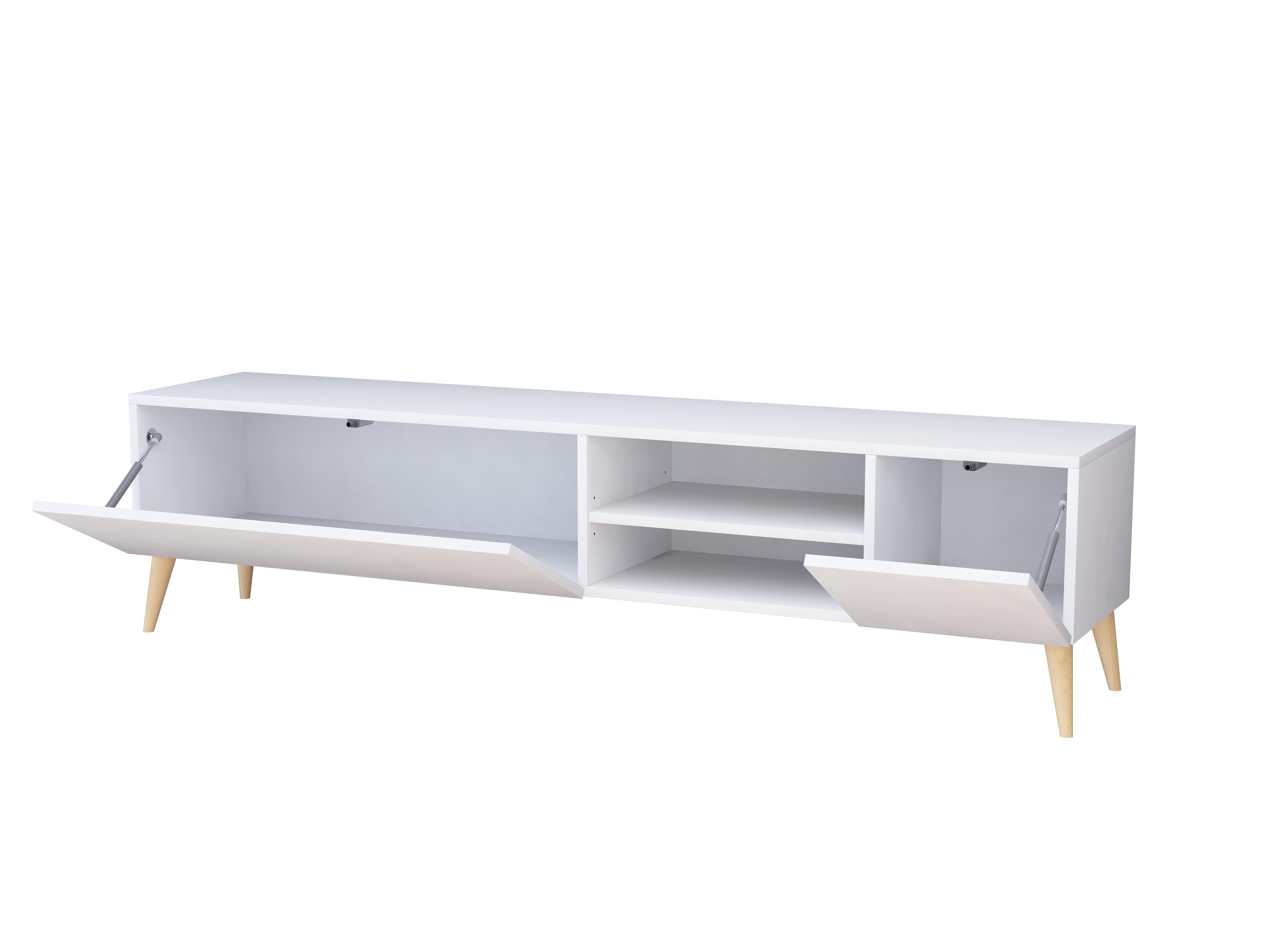Szafka rtv Scandi Galicja2, 180cm, biały mat.