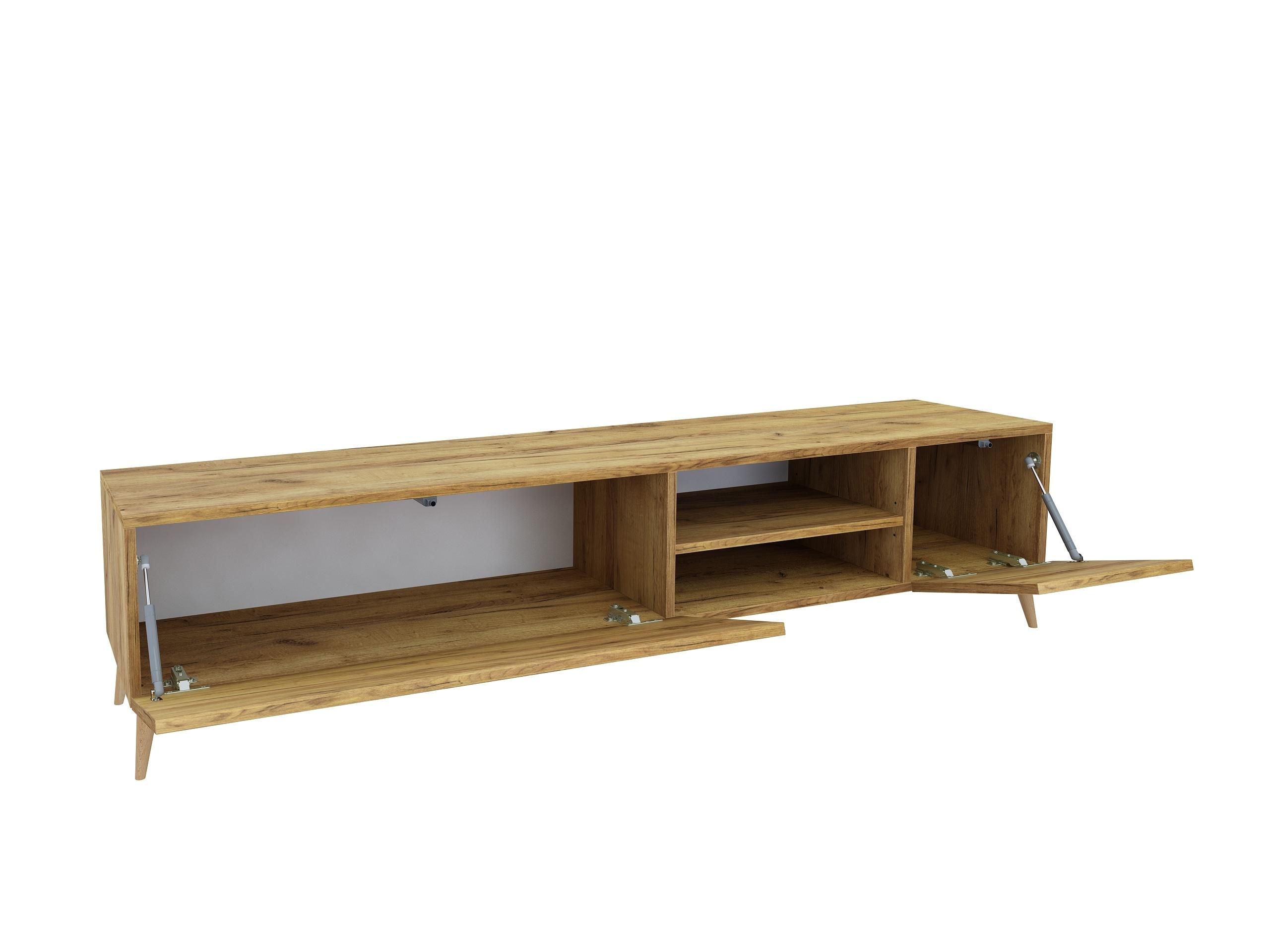 drewno, dąb craft, dąb złoty, szafka rtv, pod telewizor, drewniane nóżki