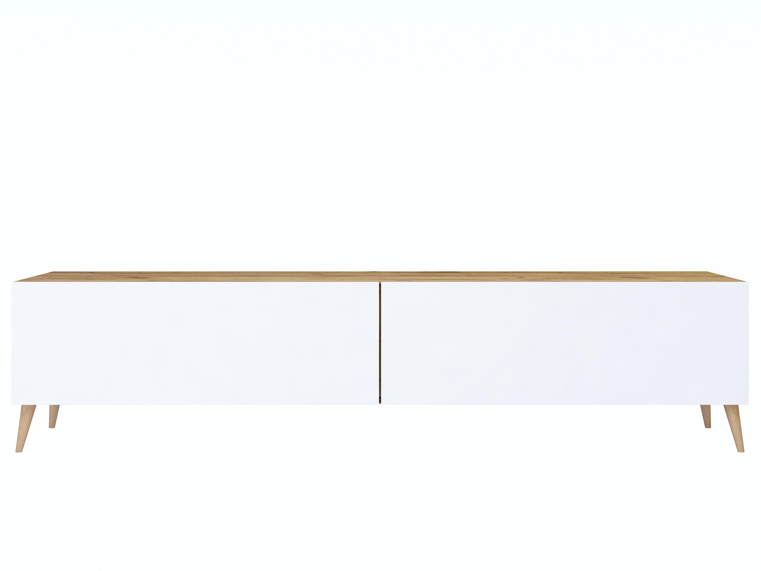 wisząca szafka tv, szafka stojąca na nóżkach, matowa szafka rtv, biały mat, drewno