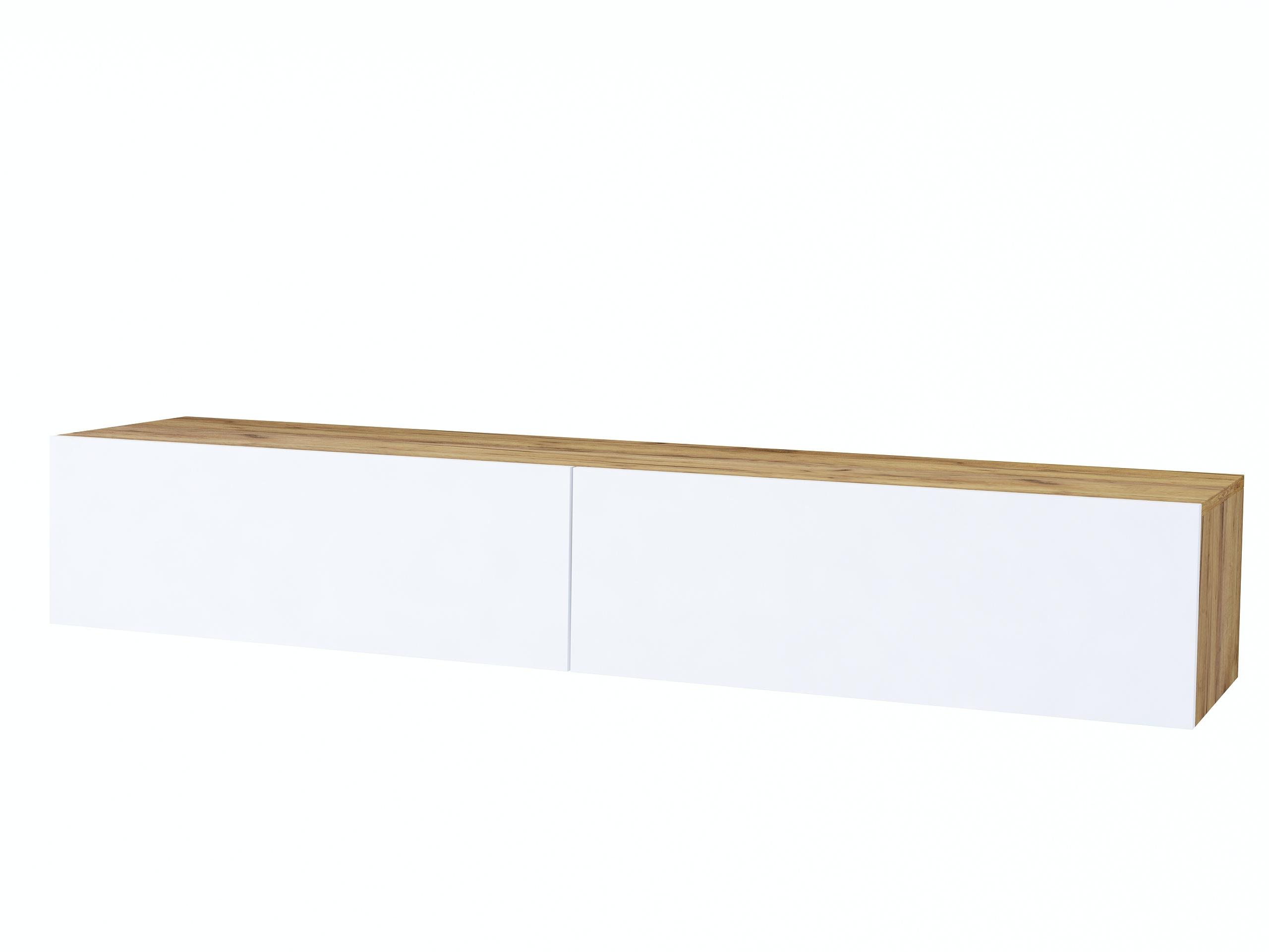 Szafka rtv Galicja, dąb craft złoty i biały mat
