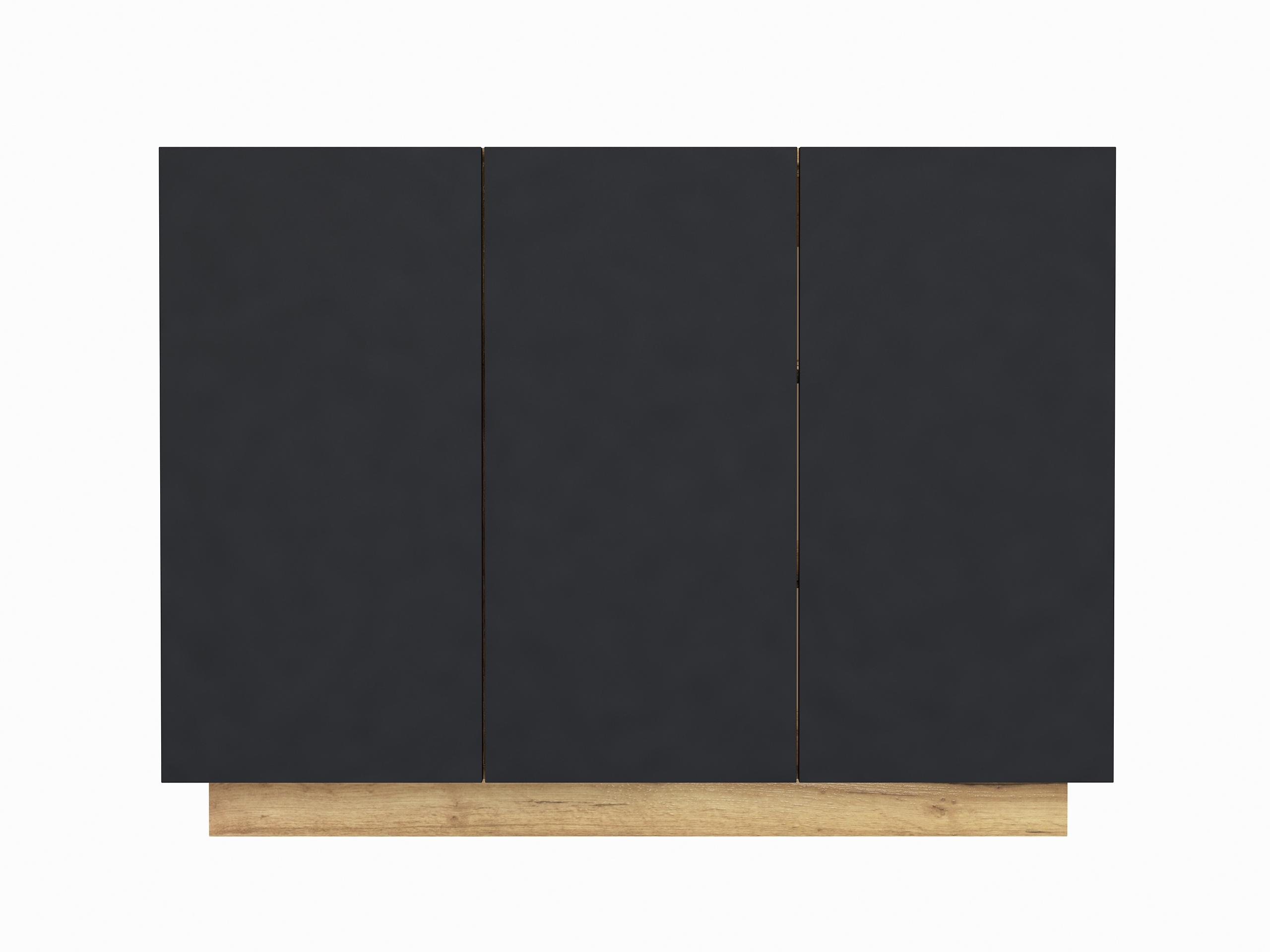 dąb złoty, dąb craft, wisząca komoda, stojąca komoda, czarny mat, matowa komoda galicja 3d