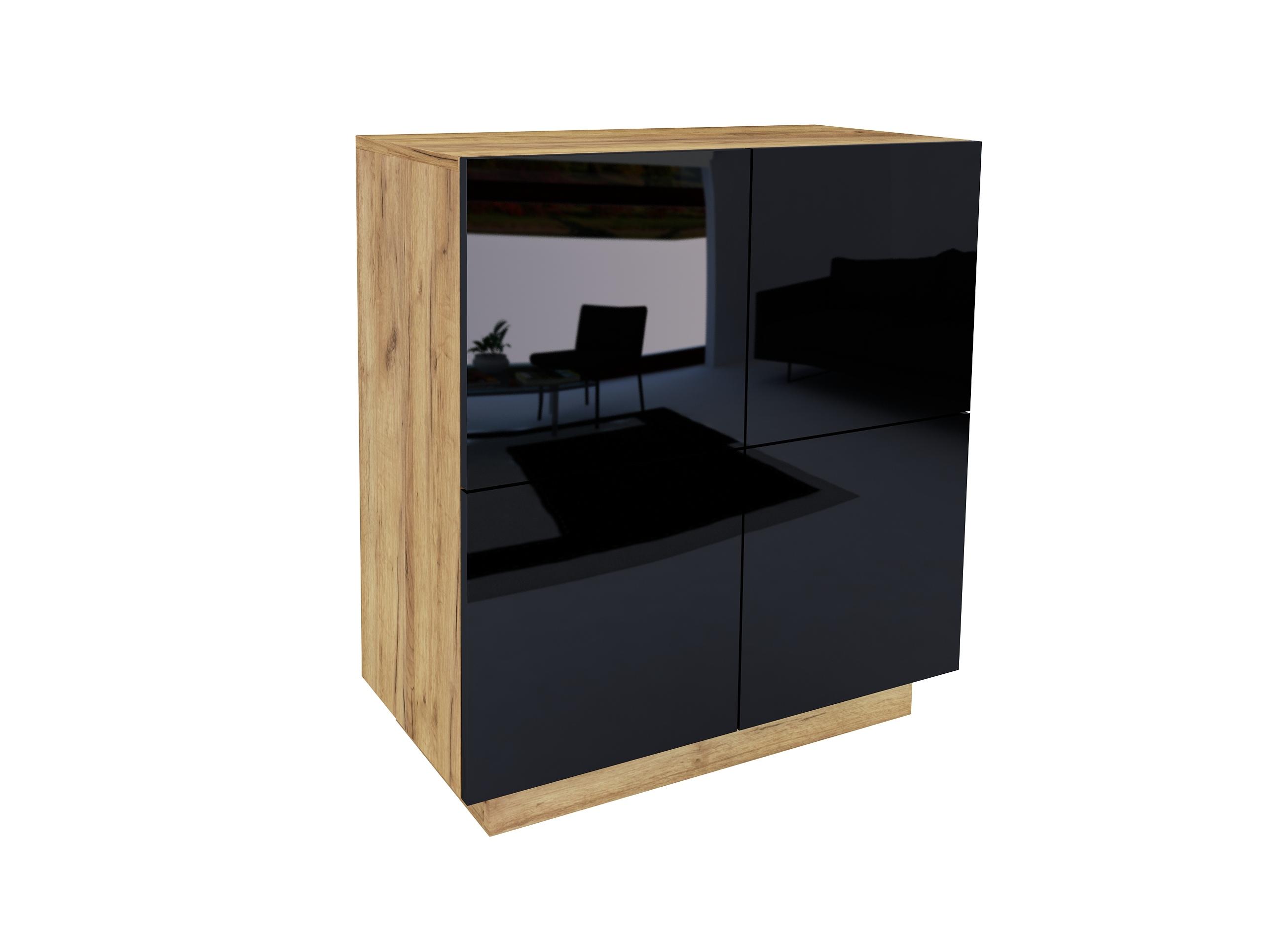 dąb złoty, dąb craft, czarny wysoki połysk, wisząca komoda, stojąca komoda, szafka do biura, szafka na ubrania do sypialni