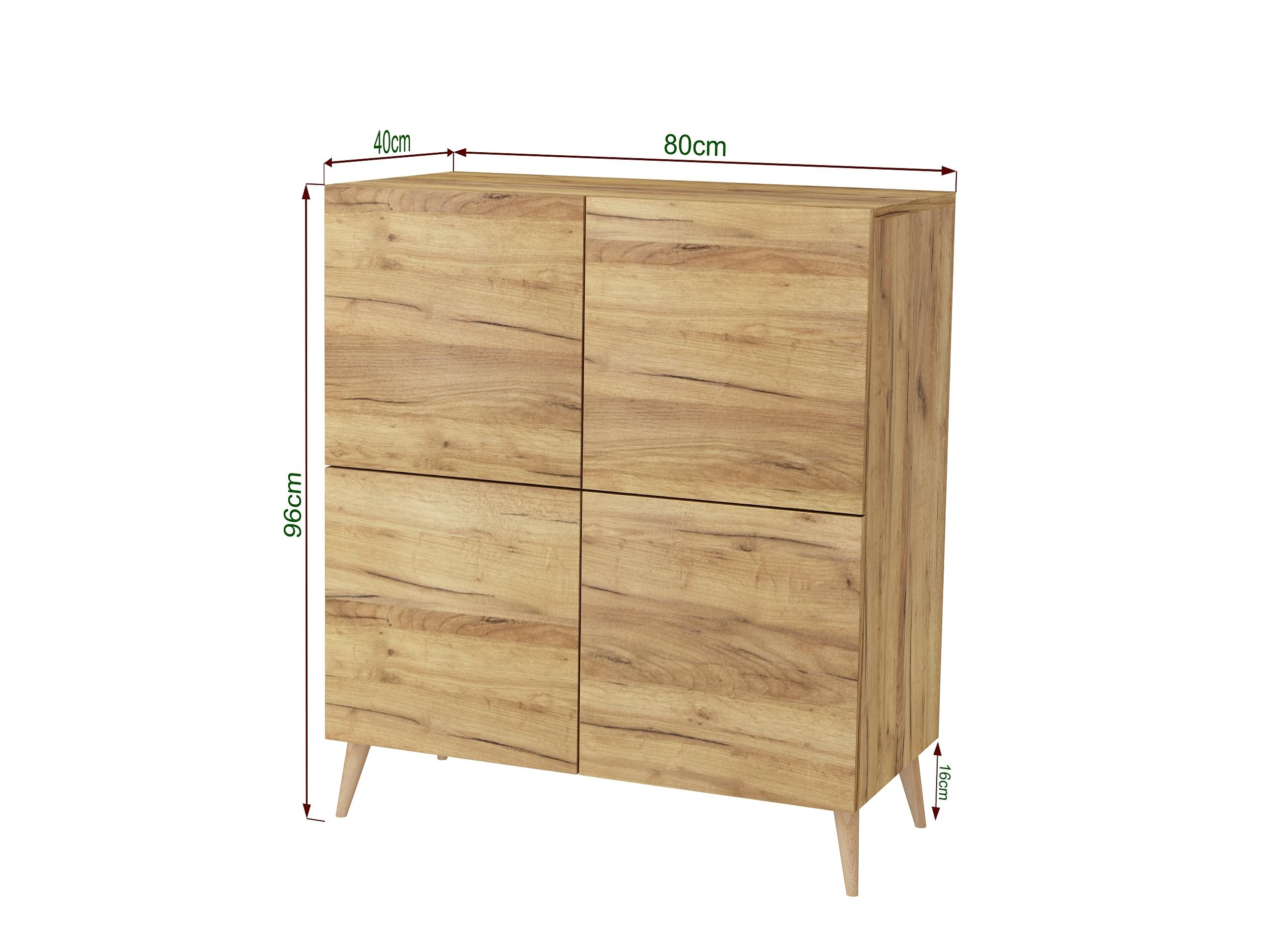 dąb złoty, dąb craft, komoda z nogami, stojąca komoda w kolorze drewna, wisząca komoda do salonu