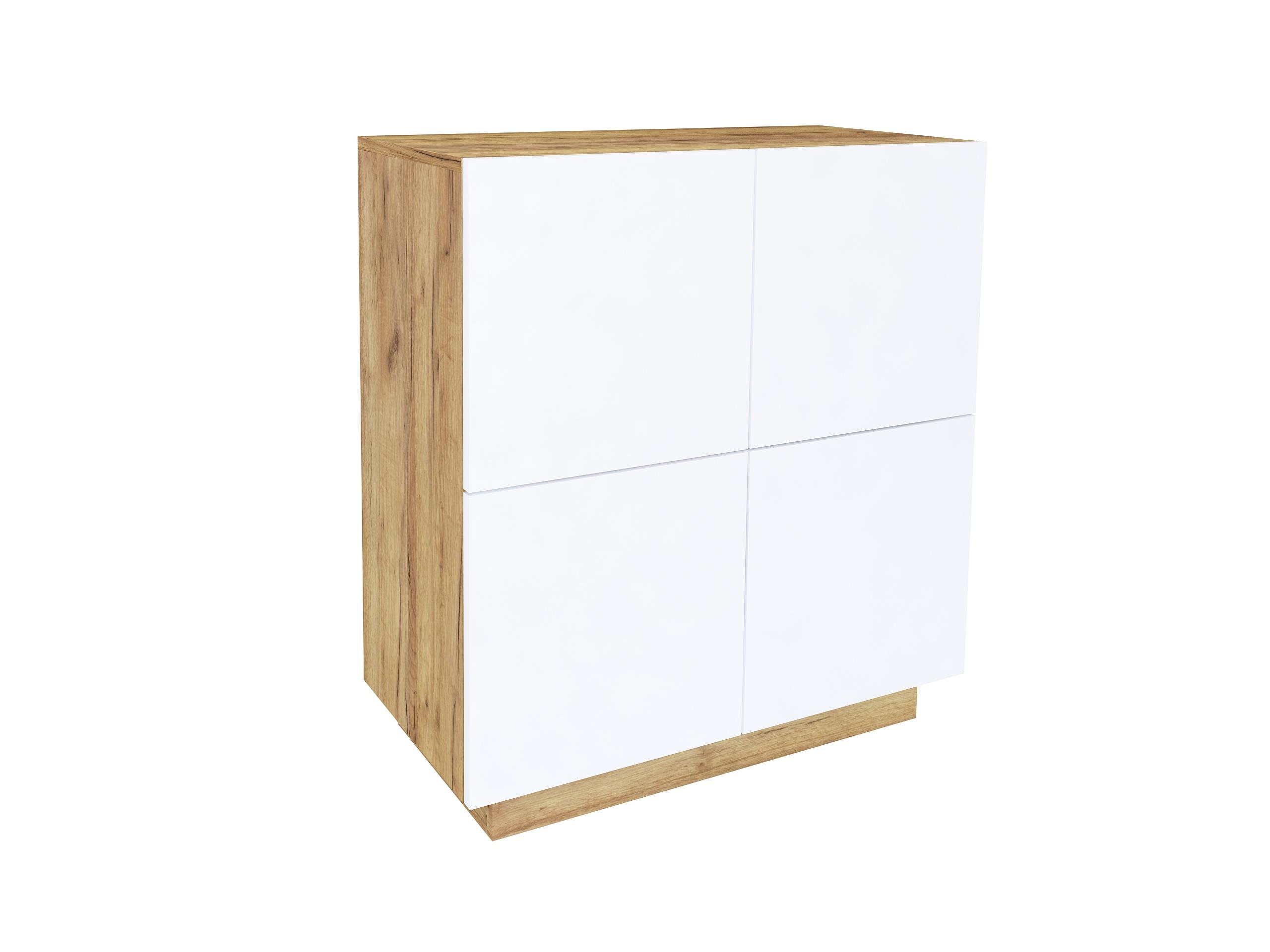dąb złoty, dąb craft, biały mat, wisząca komoda, stojąca komoda do salonu, szafka do biura, matowa komoda do sypialni