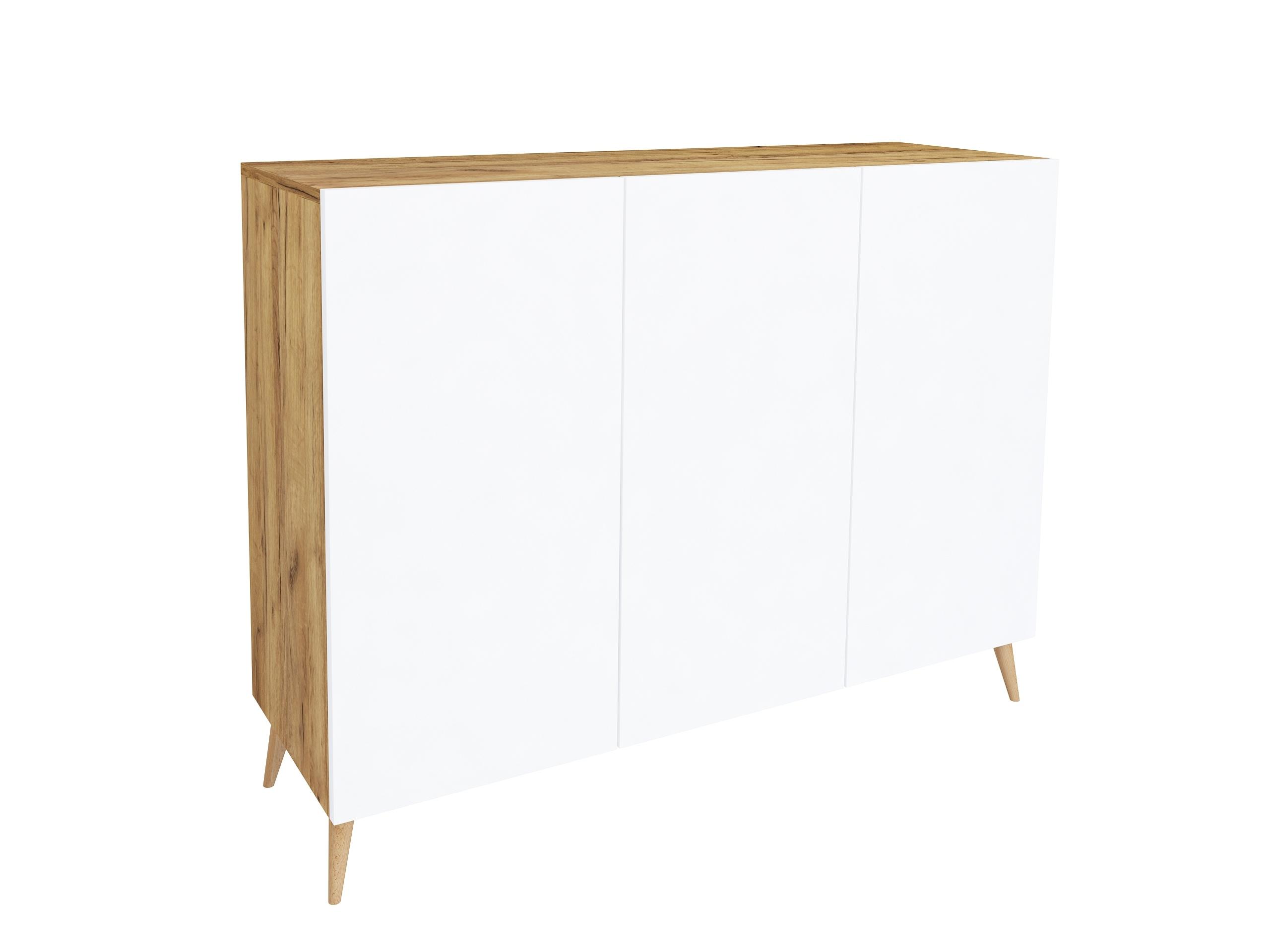 dąb craft, dąb złoty, biały mat, drewniane nogi, komoda w kolorze drewna, wisząca komoda, stojąca szafka